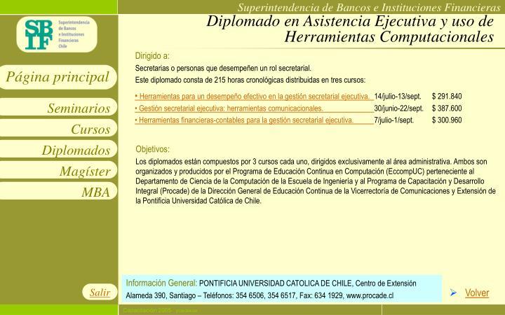 Diplomado en Asistencia Ejecutiva y uso de Herramientas Computacionales