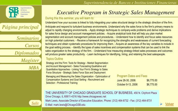 Executive Program in Strategic Sales Management