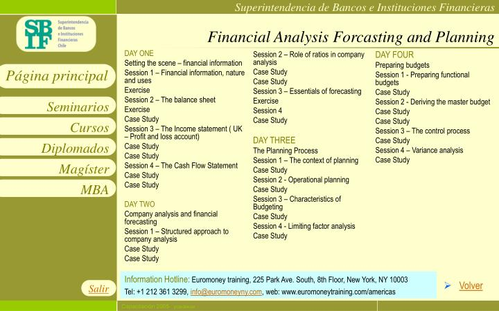 Financial Analysis Forcasting and Planning
