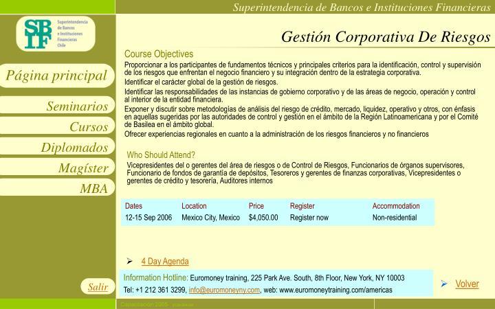 Gestión Corporativa De Riesgos