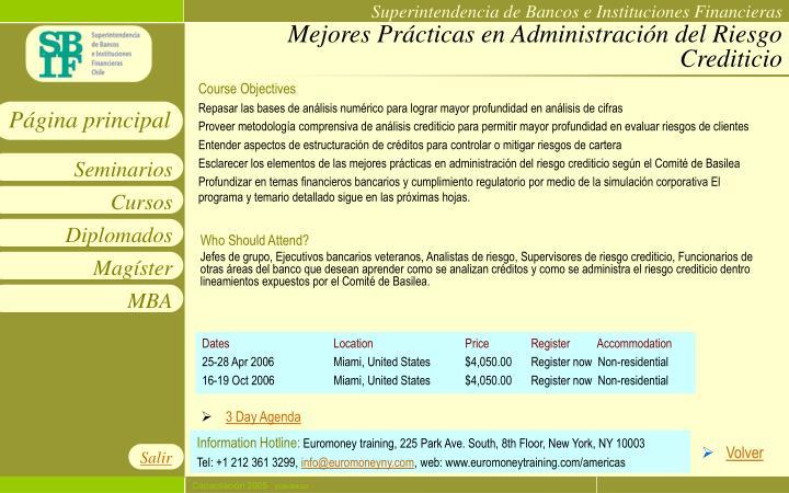 Mejores Prácticas en Administración del Riesgo Crediticio