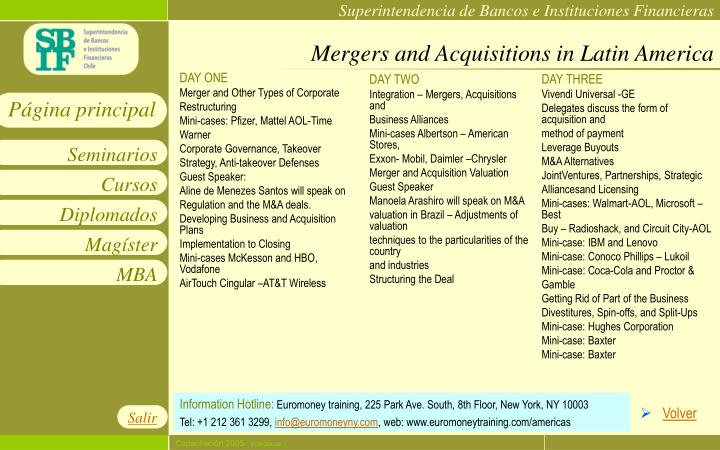 Mergers and Acquisitions in Latin America