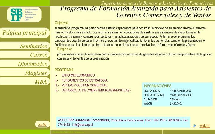 Programa de Formación Avanzada para Asistentes de Gerentes Comerciales y de Ventas