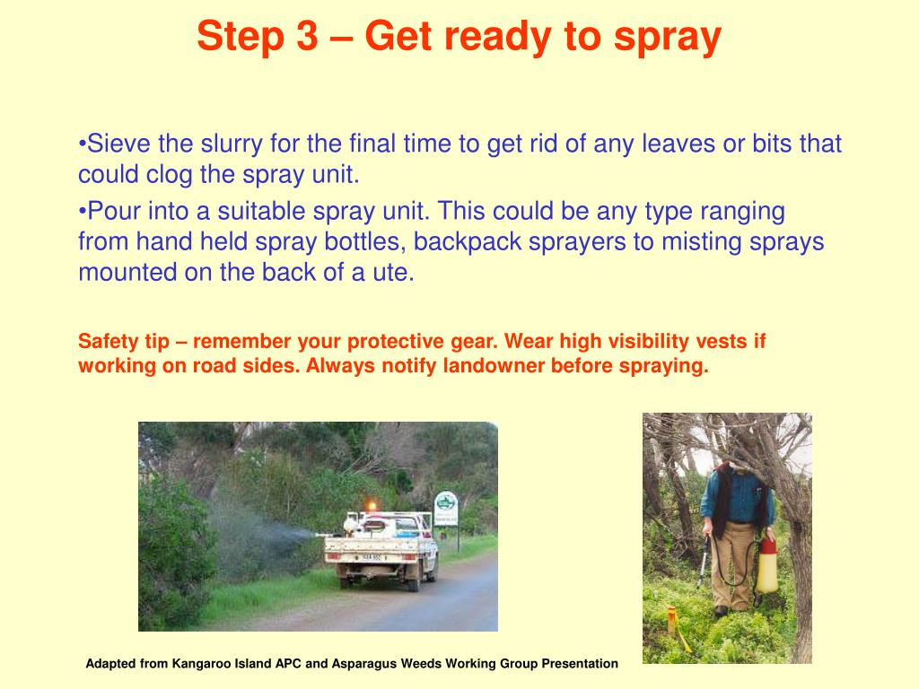 Step 3 – Get ready to spray