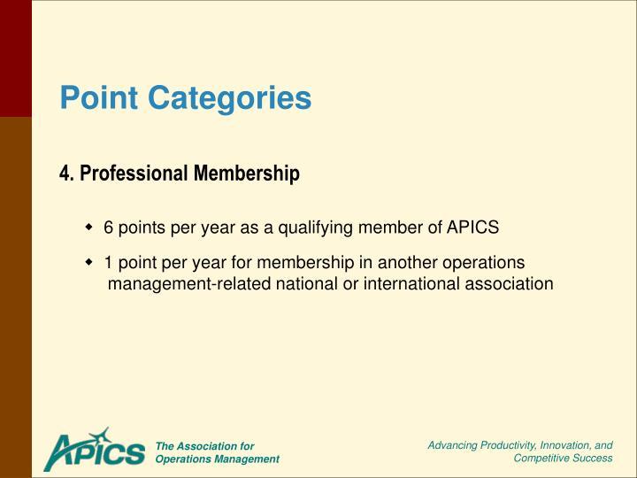 4. Professional Membership