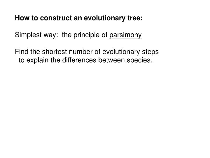 How to construct an evolutionary tree: