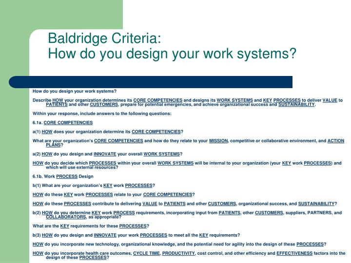 How do you design your work systems?