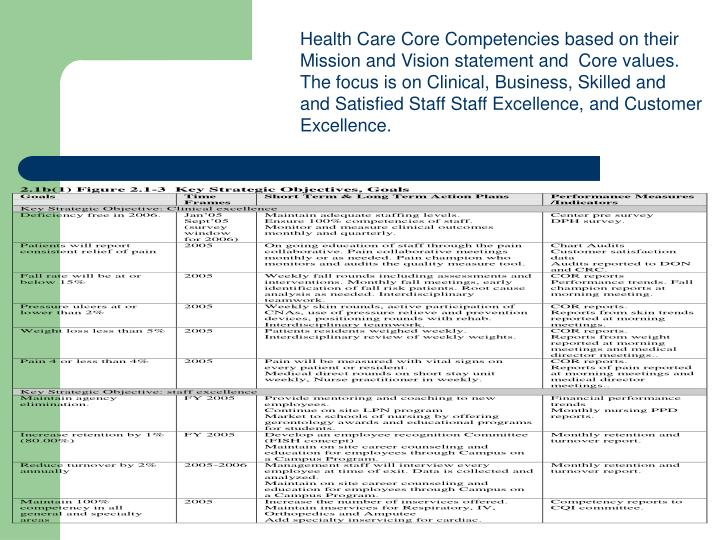 Health Care Core Competencies based on their