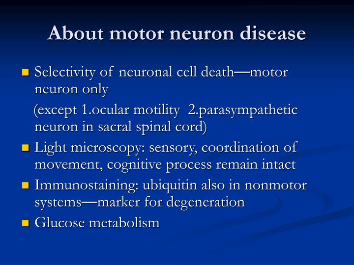 Ppt Anesthesia Of Patients With Motor Neuron Disease