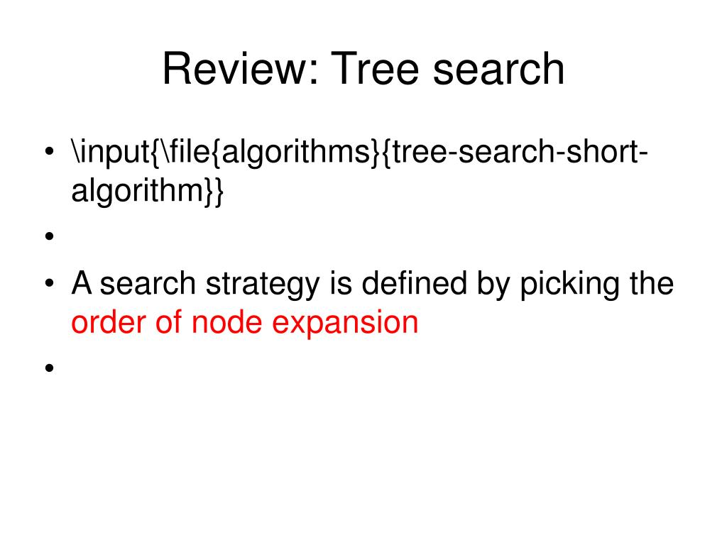 Review: Tree search