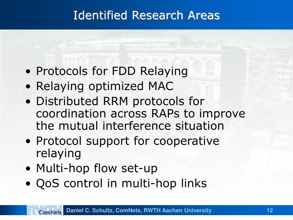Identified Research Areas