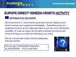 europe direct venezia veneto activity