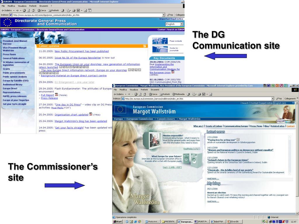 The DG Communication site