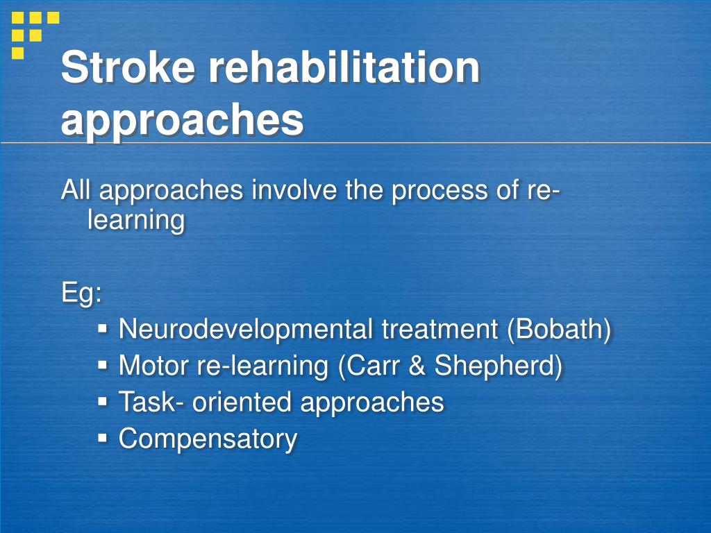 Stroke rehabilitation approaches