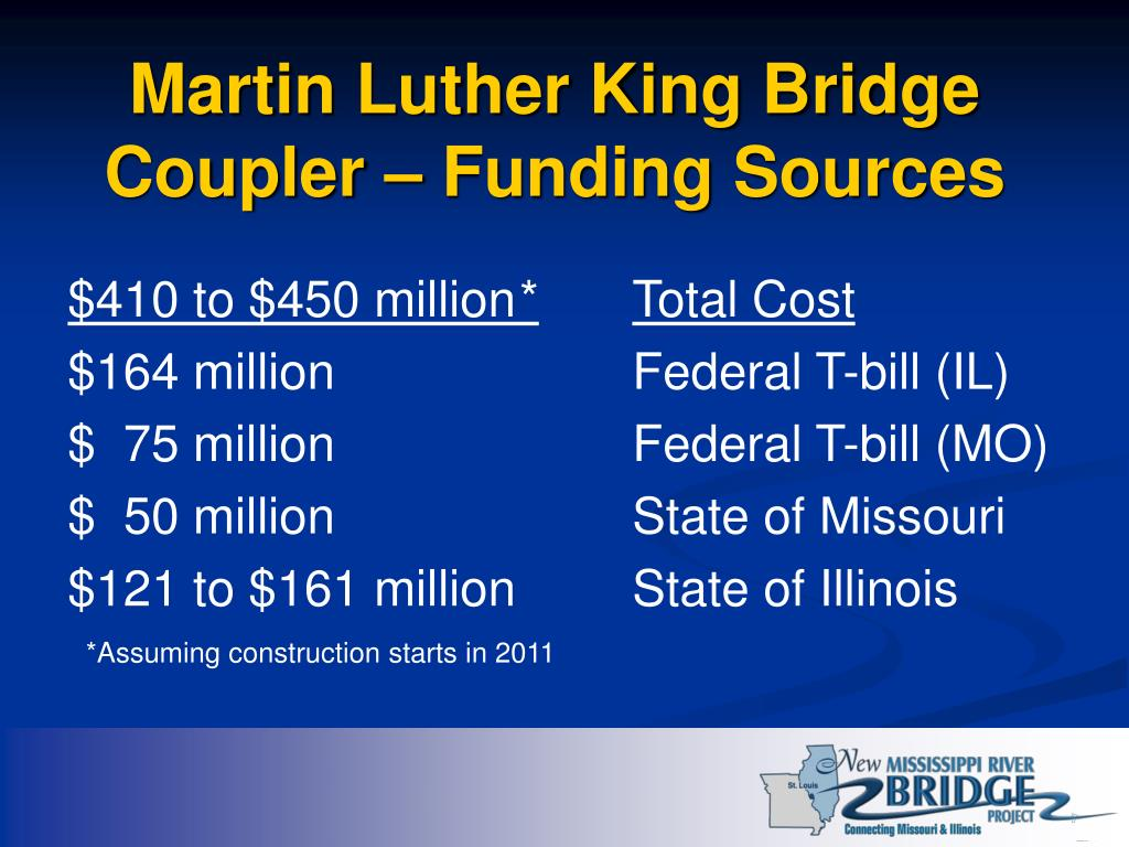Martin Luther King Bridge Coupler – Funding Sources