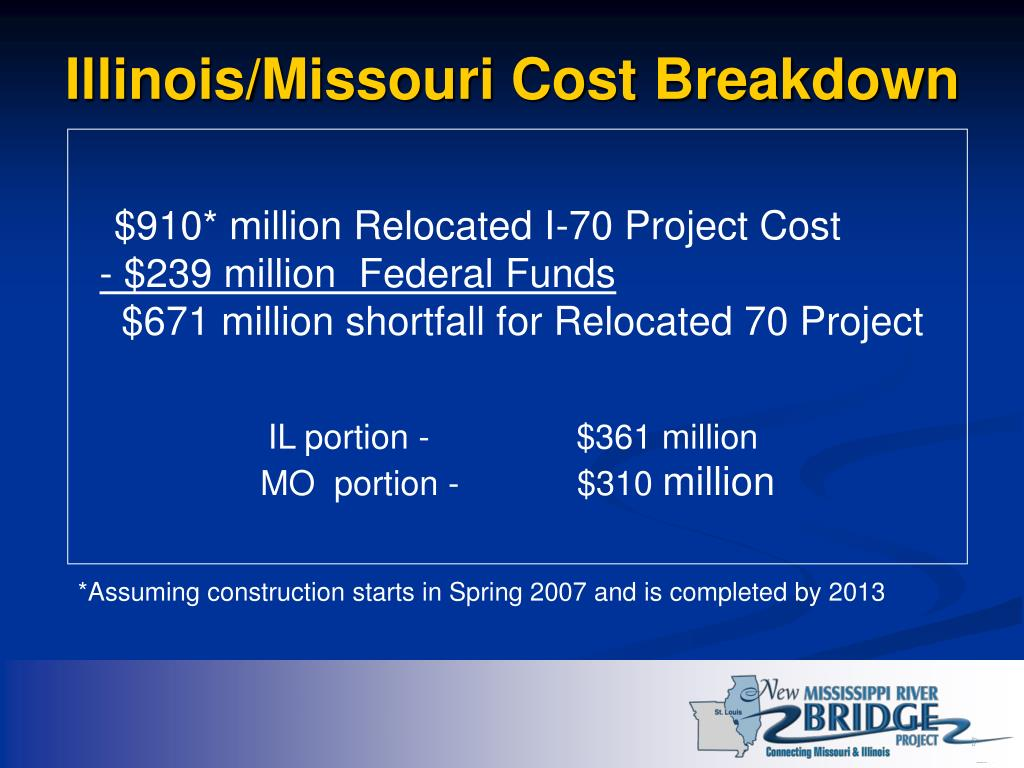 Illinois/Missouri Cost Breakdown