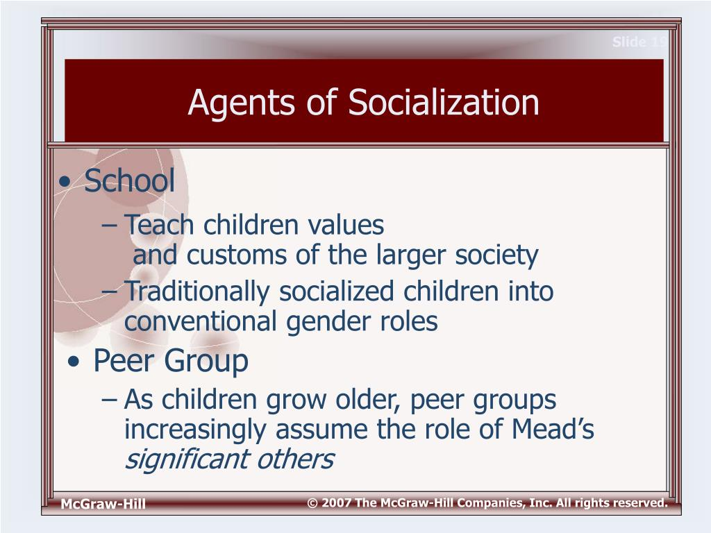 agents of sociology 2014-12-01  media as agents of socialization 3  characteristics and environmental stimuli affect social behaviors in short-term contexts it also shows how long-term attitudes, beliefs, and behavioral tendencies are formed through.