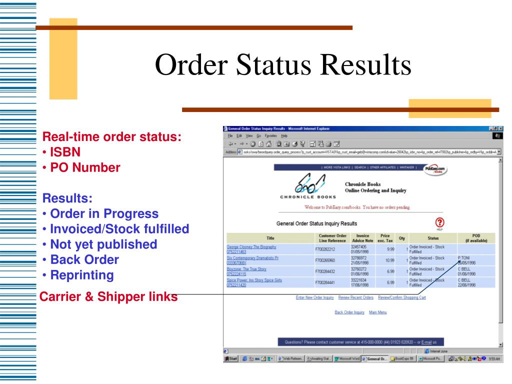 Order Status Results