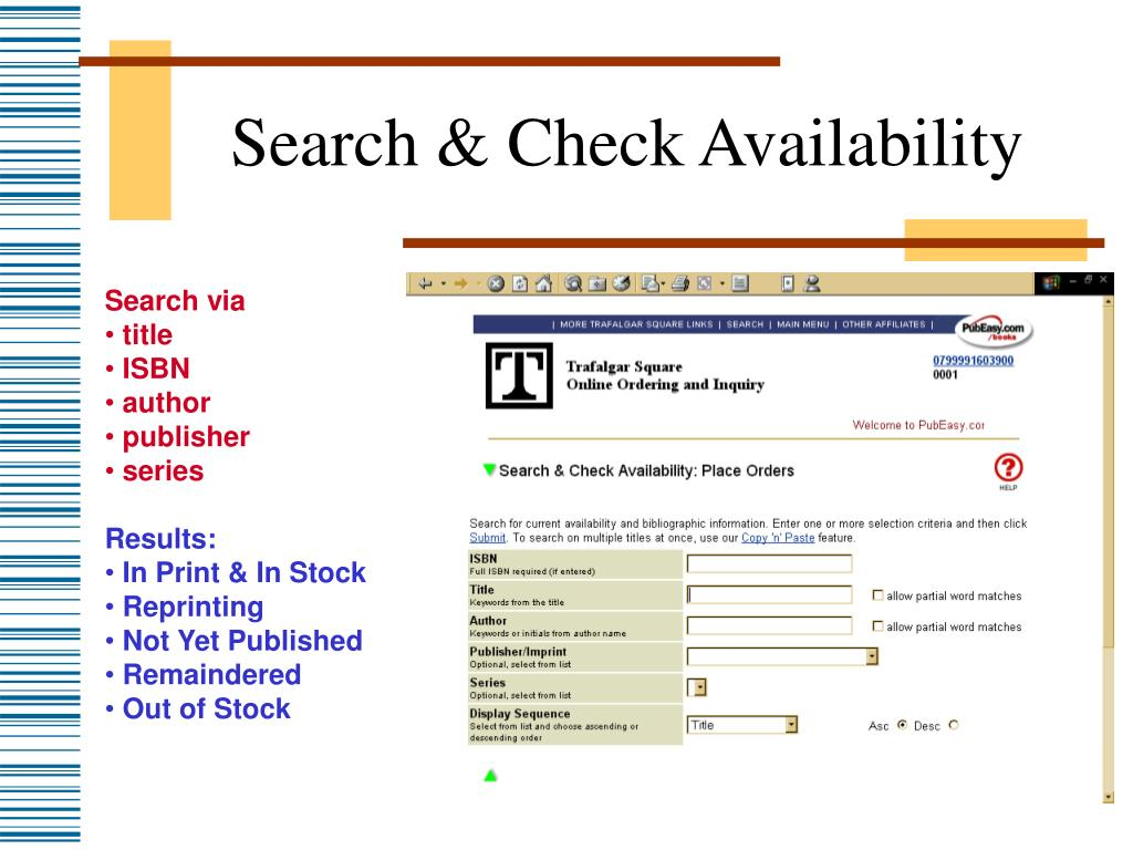 Search & Check Availability