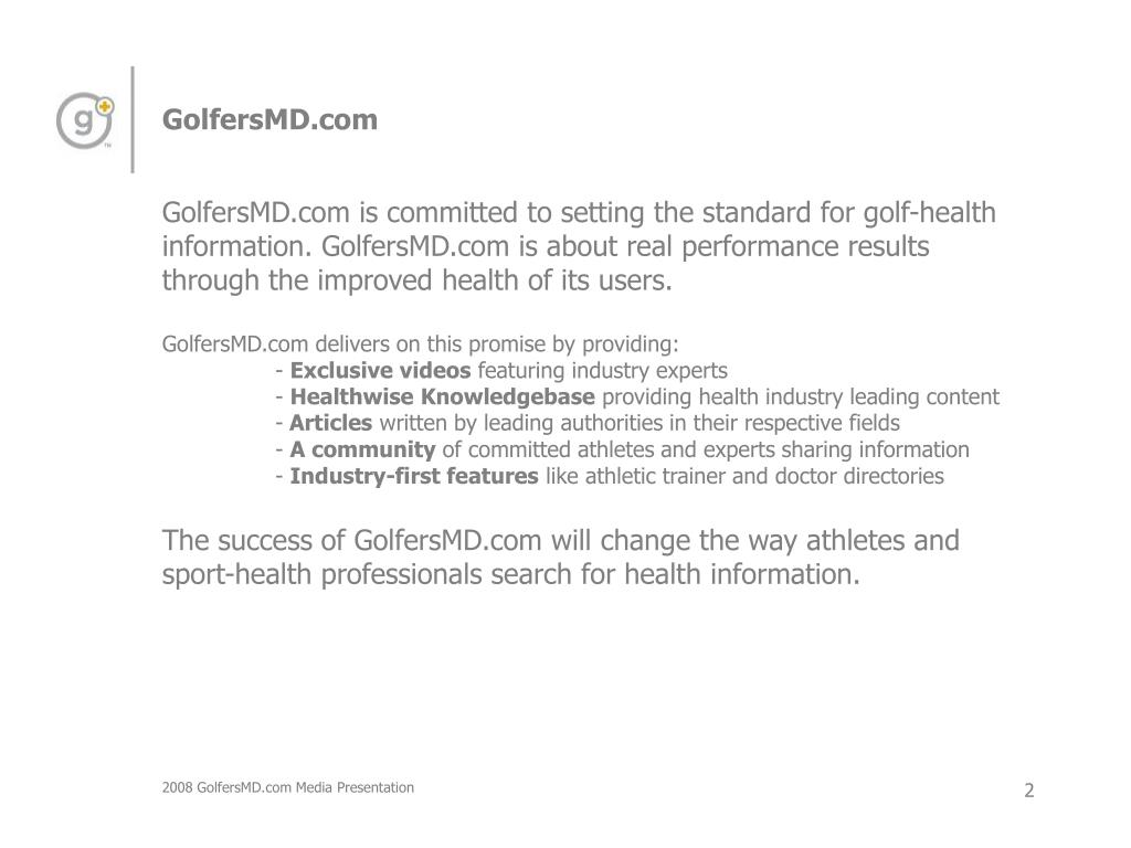 GolfersMD.com