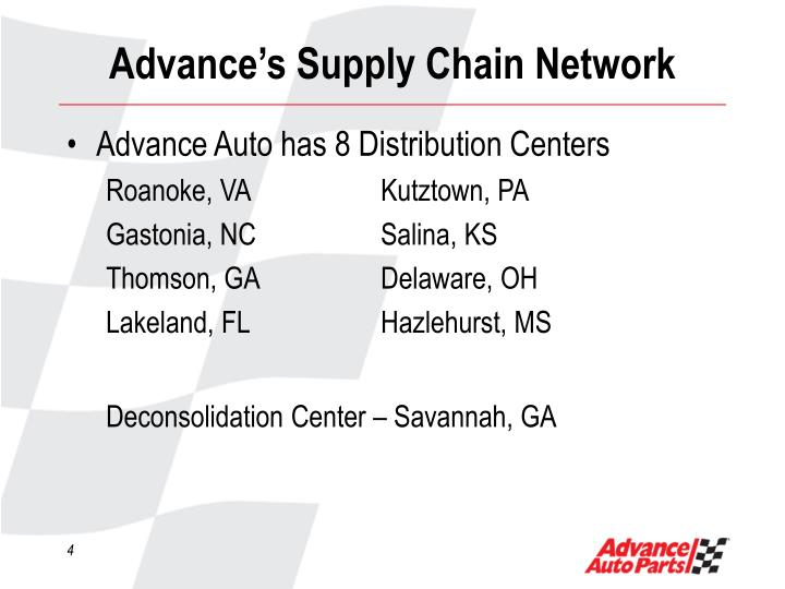Advance's Supply Chain Network