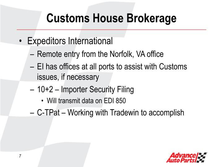 Customs House Brokerage