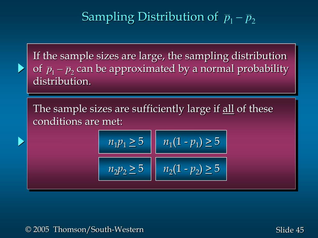 If the sample sizes are large, the sampling distribution