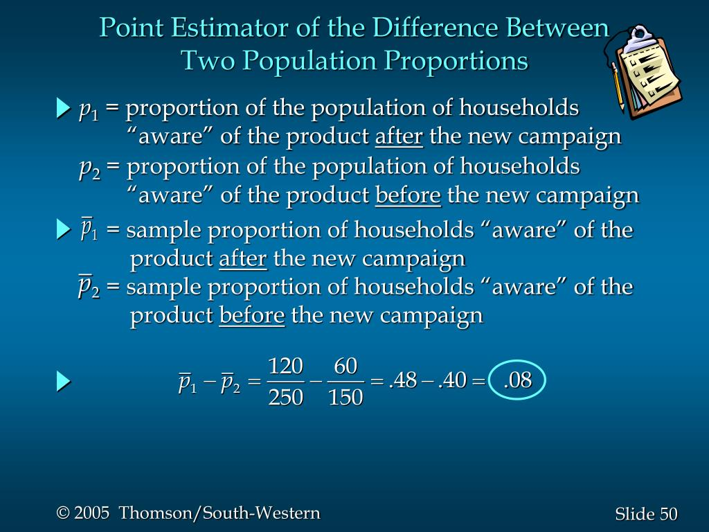 "= sample proportion of households ""aware"" of the"