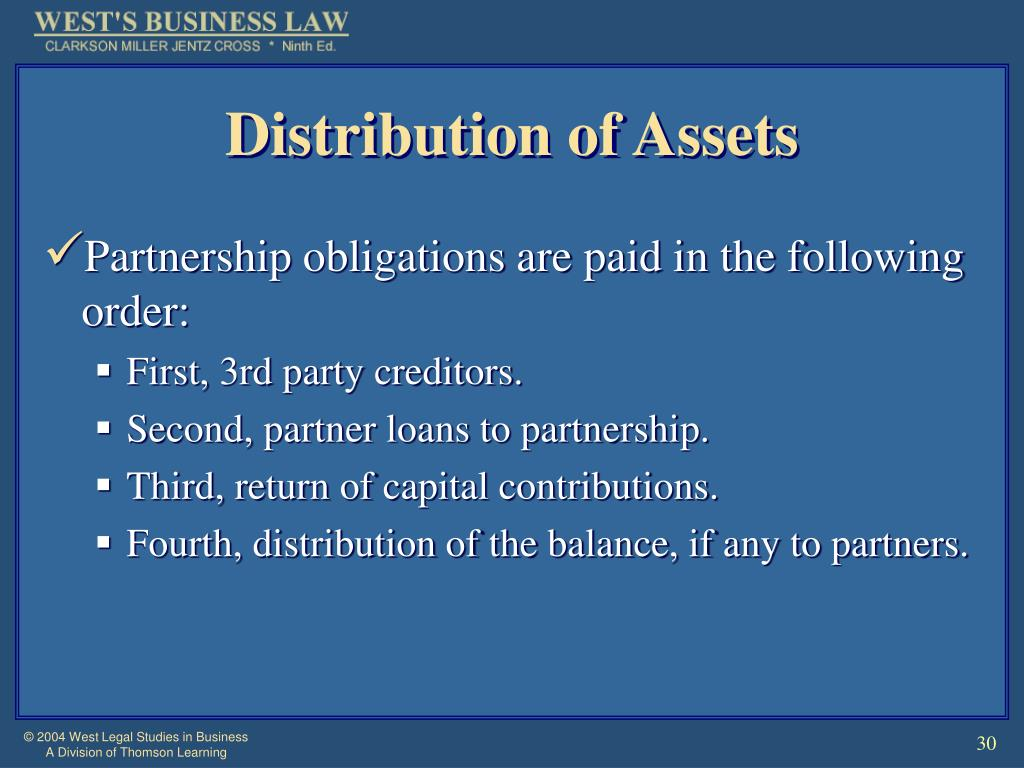 Distribution of Assets