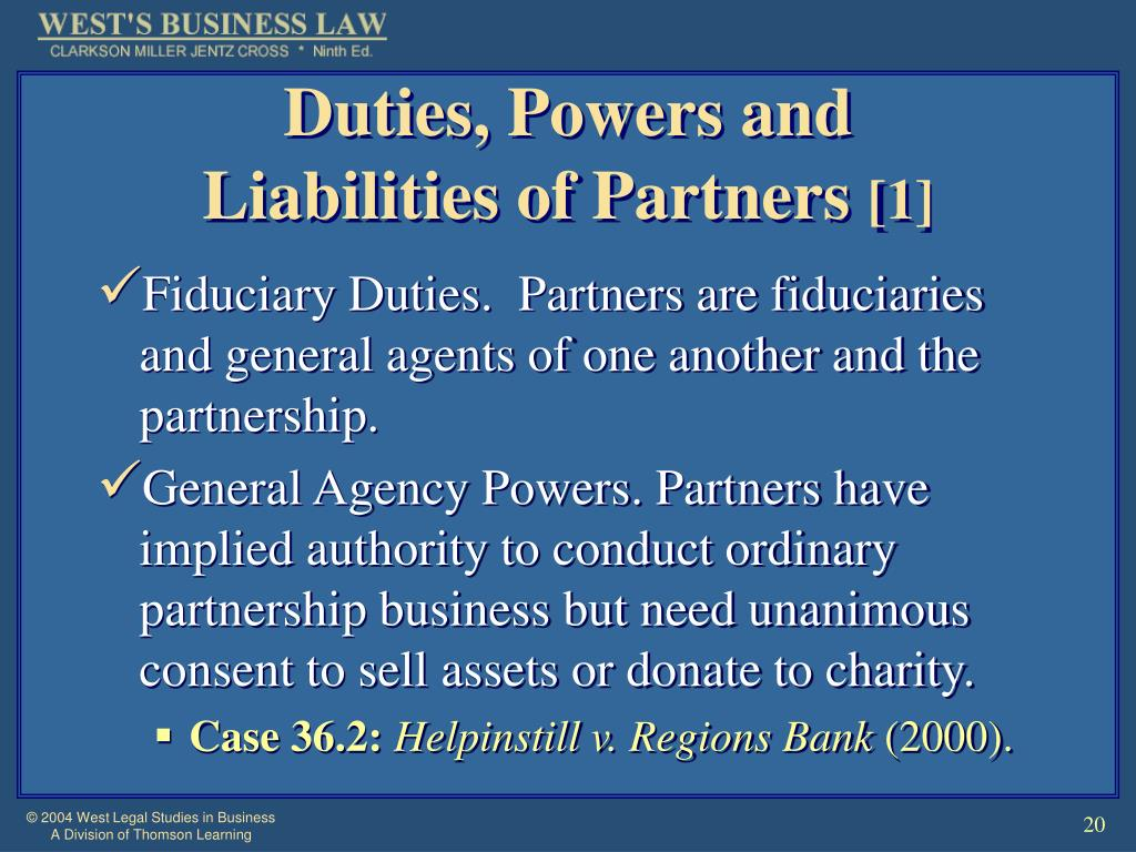 Duties, Powers and