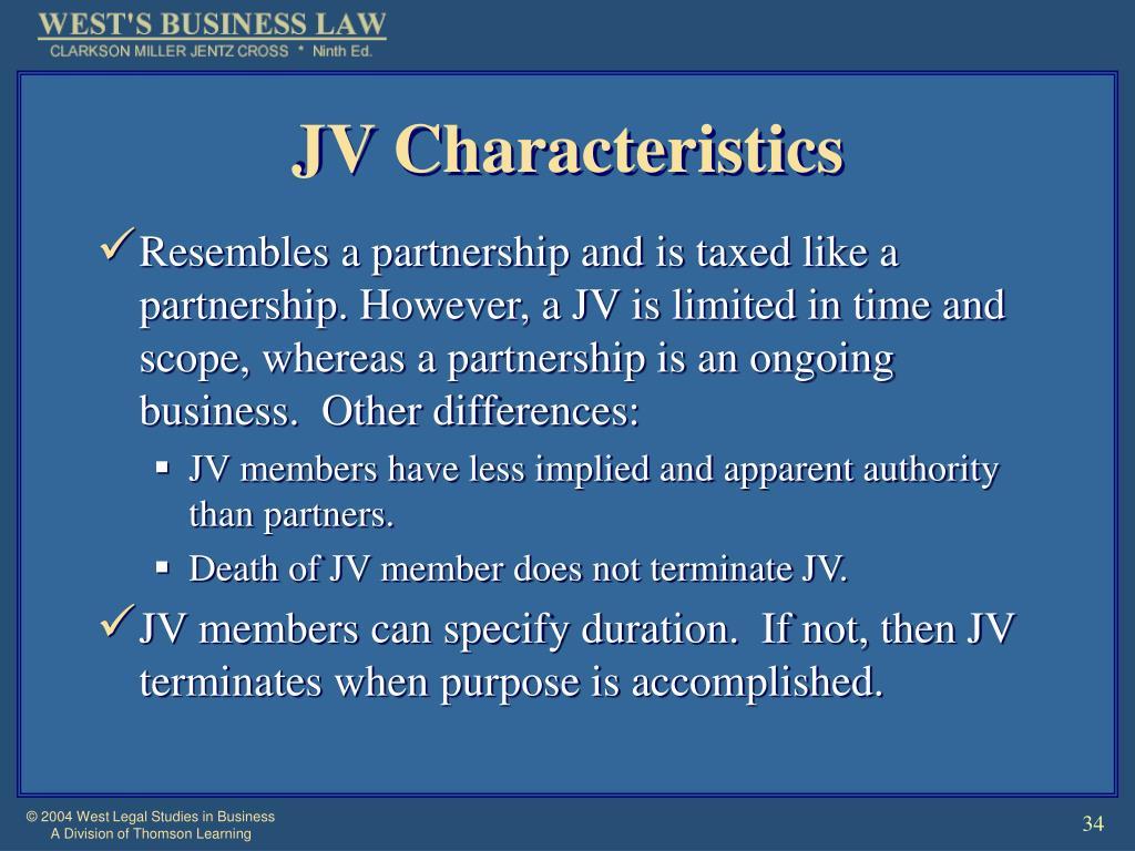 JV Characteristics