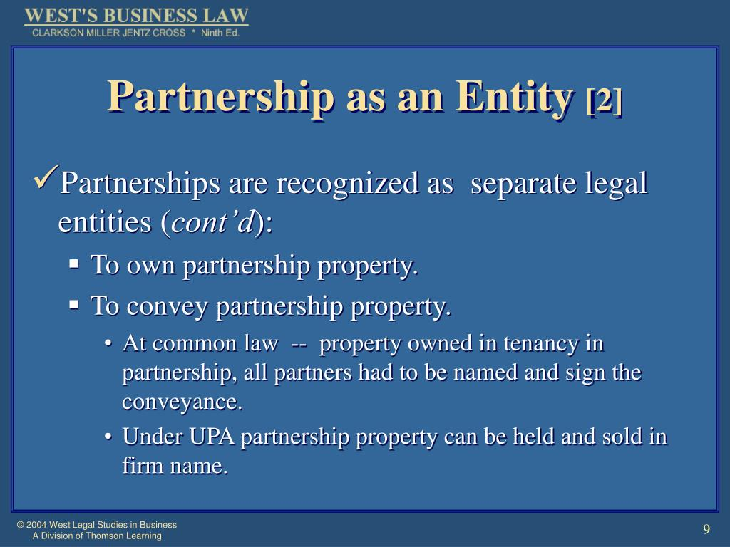 Partnership as an Entity