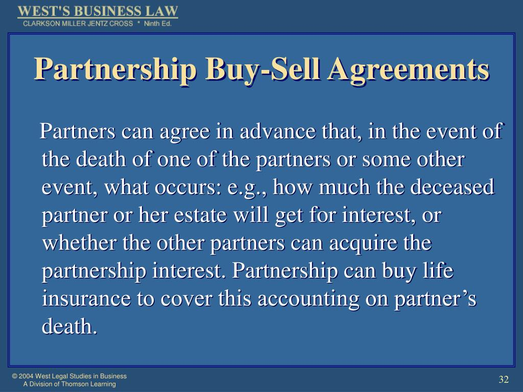 Partnership Buy-Sell Agreements