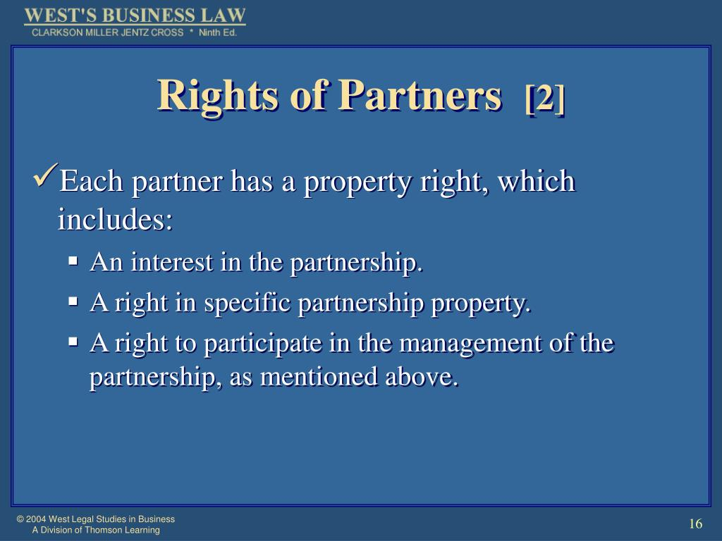 Rights of Partners