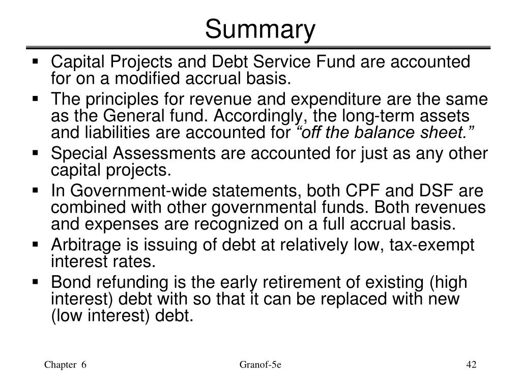 Accounting For General Long Term Liabilities And Debt Service