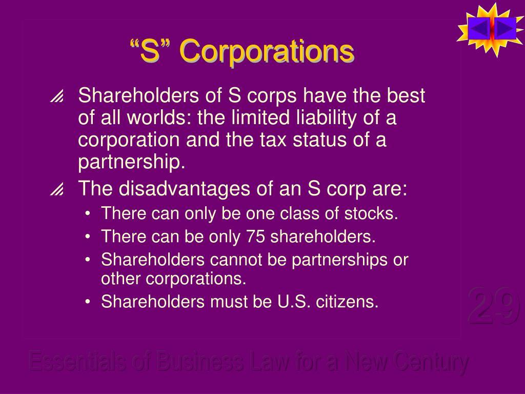 """S"" Corporations"