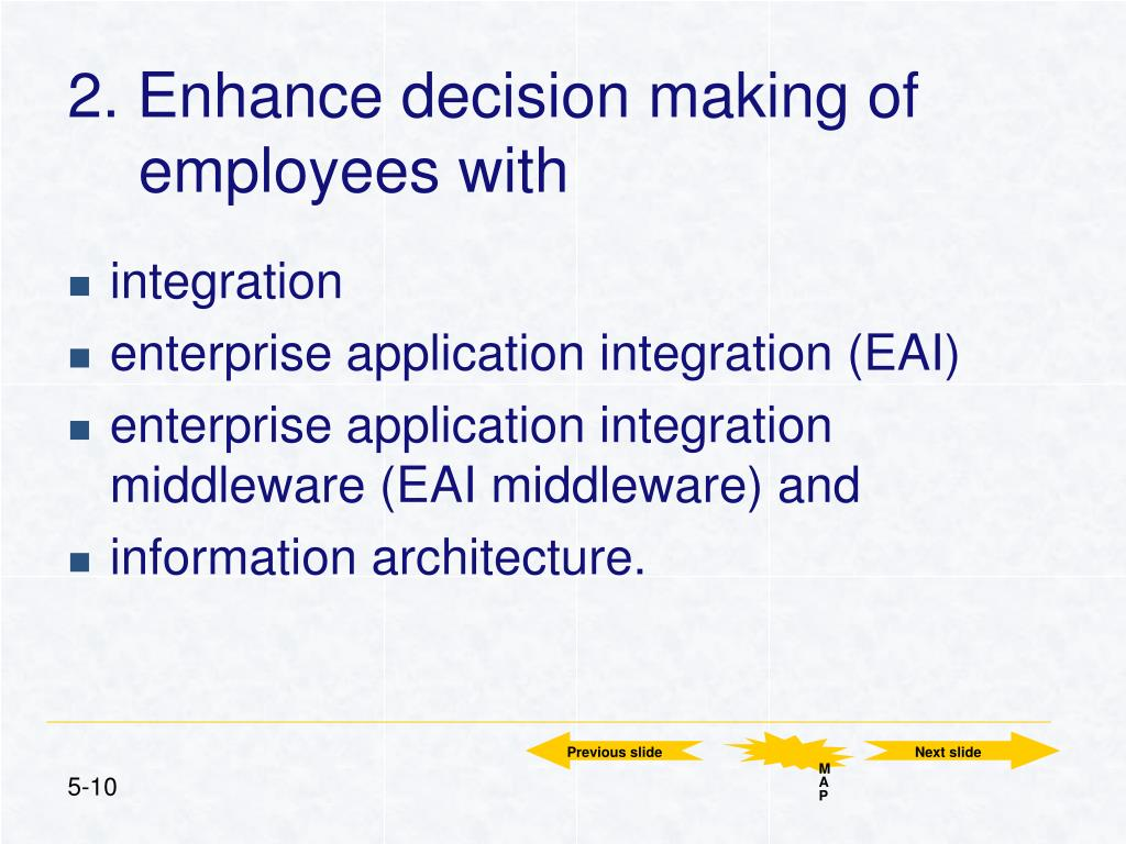 2. Enhance decision making of employees with