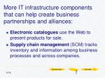 more it infrastructure components that can help create business partnerships and alliances