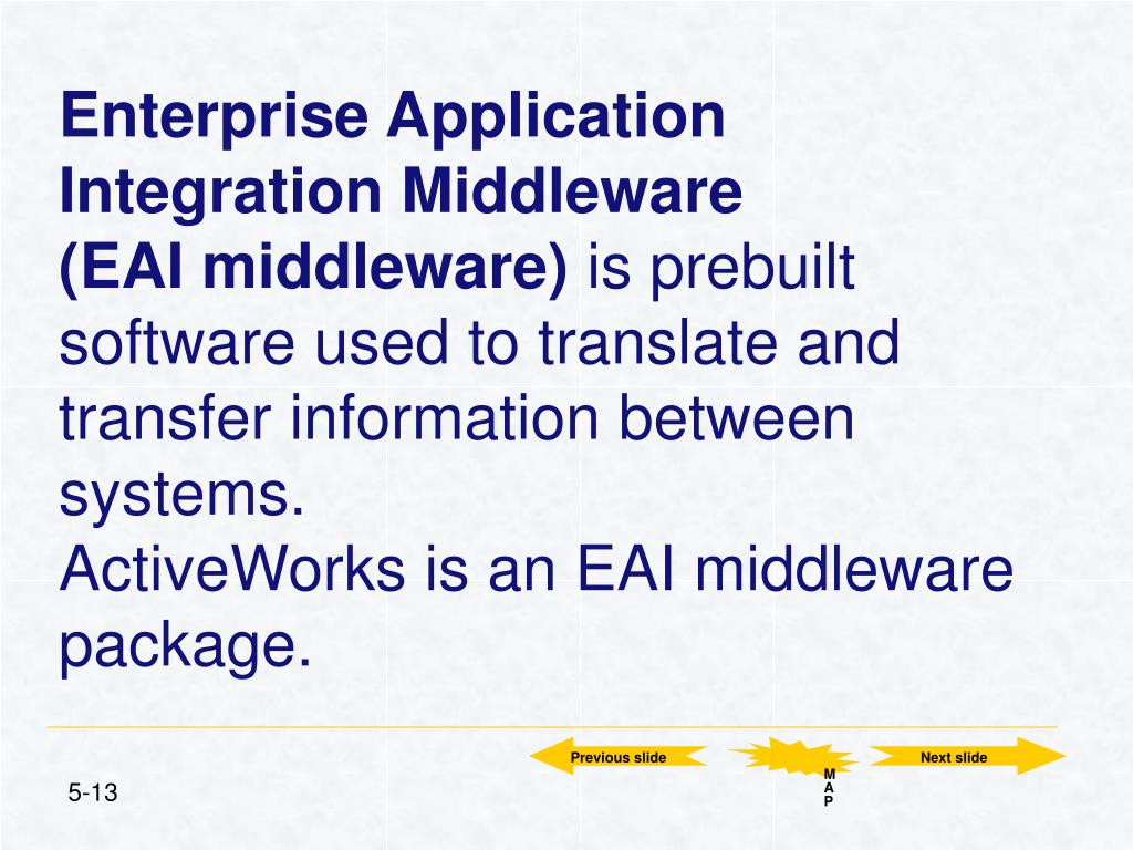 Enterprise Application Integration Middleware