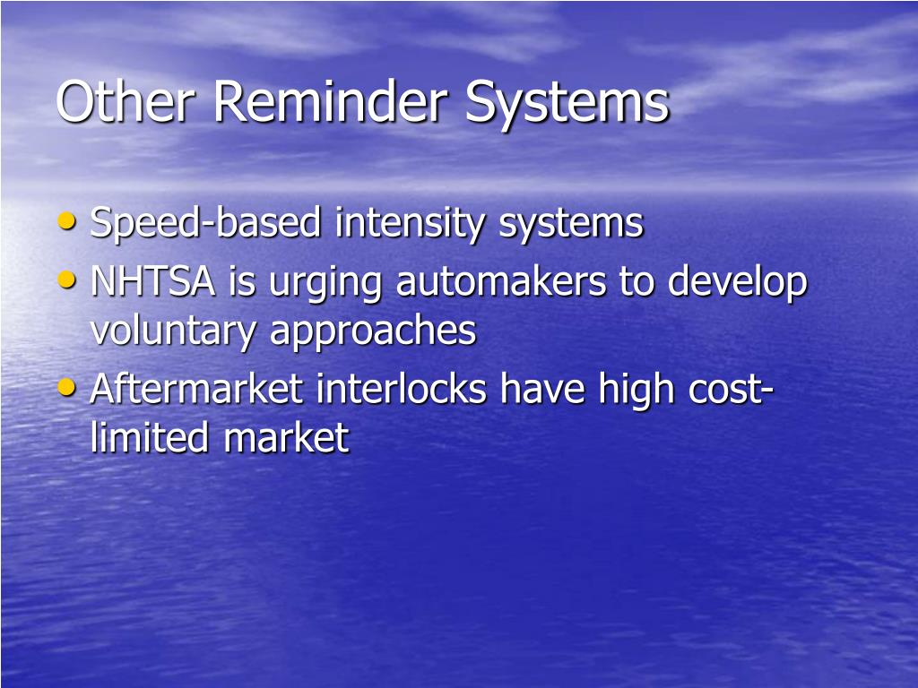 Other Reminder Systems