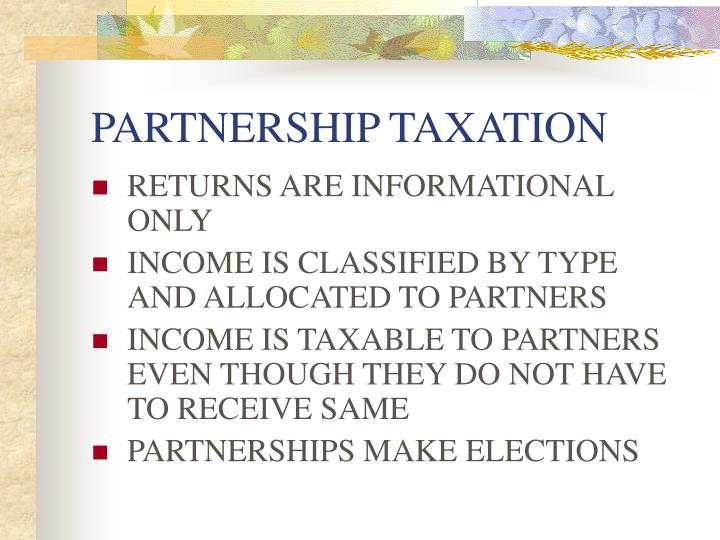 Partnership taxation3