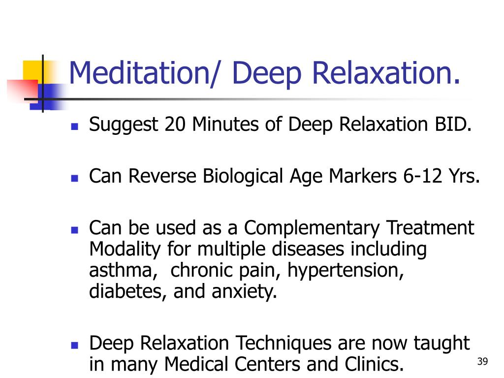 meditation relaxation and its effects Make sure you check out the free meditations and guided imagery here at  one  of the main benefits of using such relaxation techniques is that you are able to.