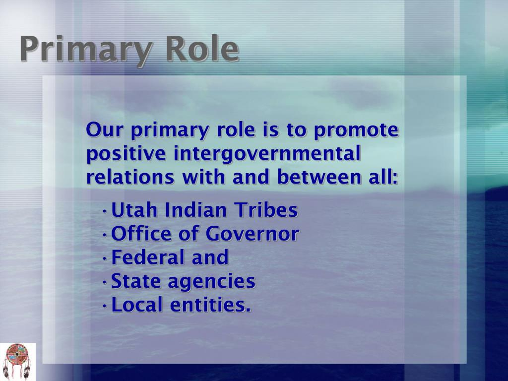 Our primary role is to promote positive intergovernmental relations with and between all: