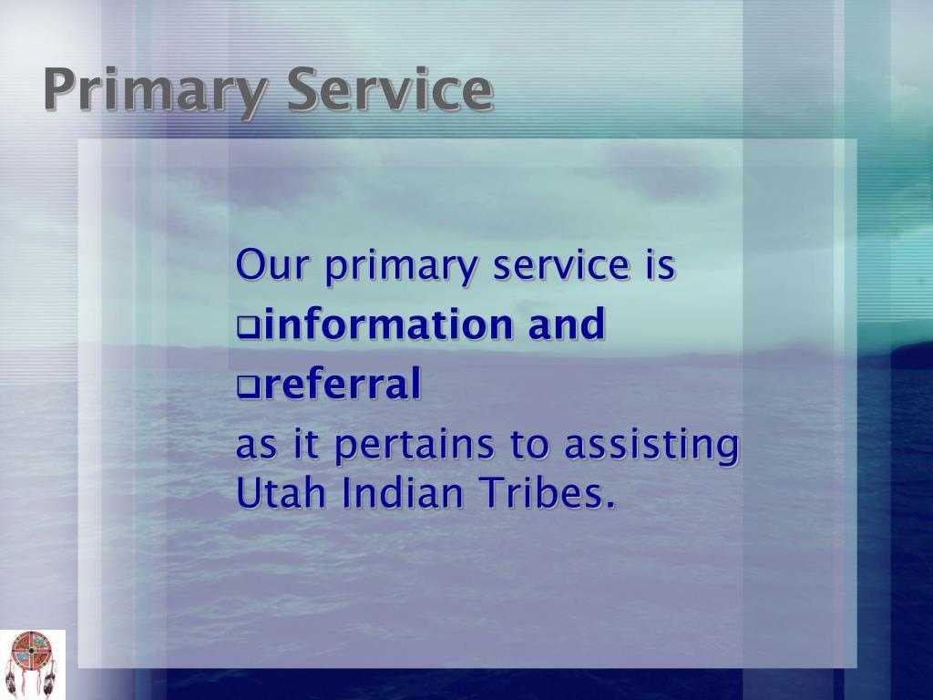 Primary Service