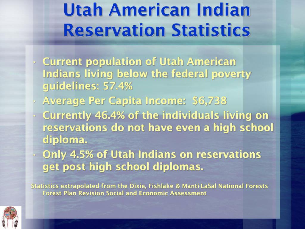 Utah American Indian Reservation Statistics