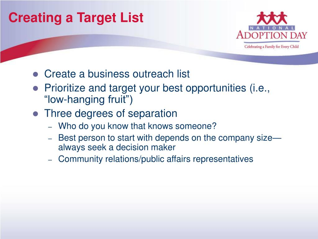 Creating a Target List