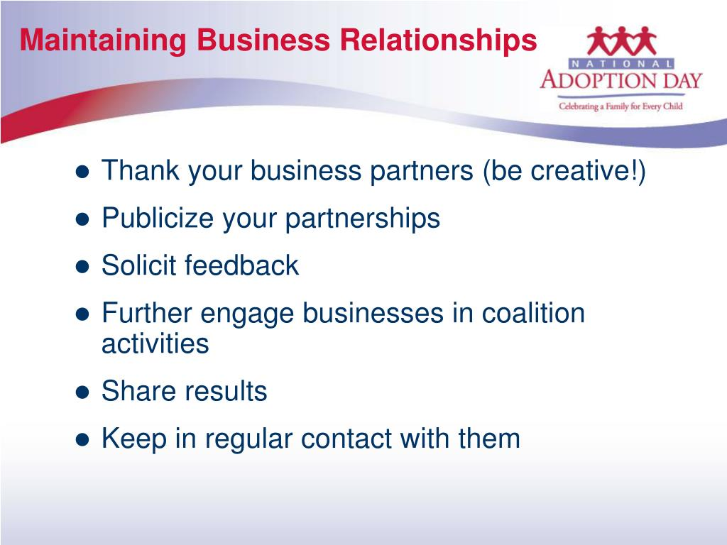 Maintaining Business Relationships