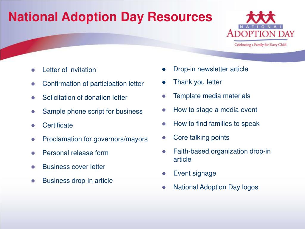 National Adoption Day Resources