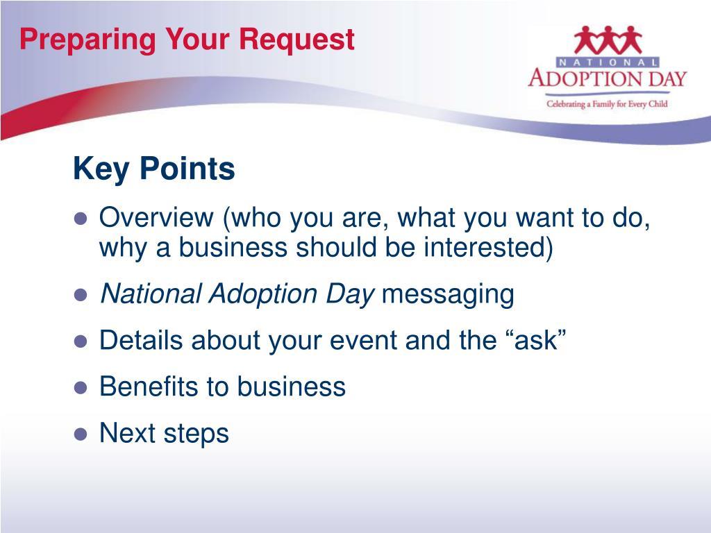 Preparing Your Request