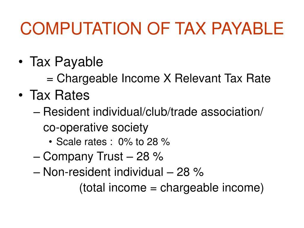 COMPUTATION OF TAX PAYABLE